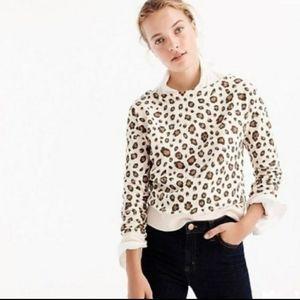 J Crew Leopard Print Sweatshirt